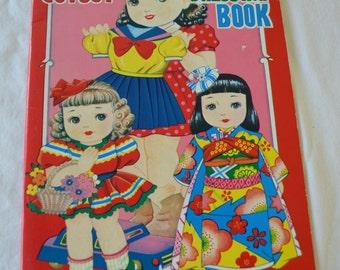 "last chance Vintage ""Cutout Dressing Book"" Japanese Paper Doll Book Uncut"