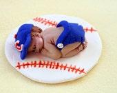 Baby Boy Baseball Cake Topper, Baby Ornament, Figurine, Baby Shower