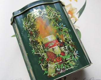 Vintage Avon Tin * Holiday Tin * 1991 Christmas Tin *