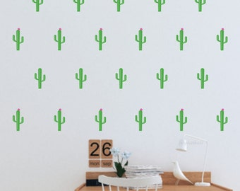 Cactus wall decal, small size decals, cactus plant, southwestern art, mini wall decals, nursery decor, cactus wall stickers, vinyl wall art