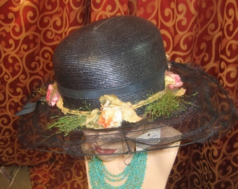 "1918-1920, 23"" size hat, with wire brim hat"