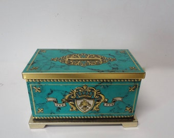 Vintage Tin Coin Bank Container Made By Blue Bird Confectionery Harry Vincent Ltd Hunnington Worcestershire England 5.5  X  3 And 1/4 Inches