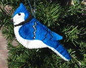 2 Blue Jay Ornaments  for Robin