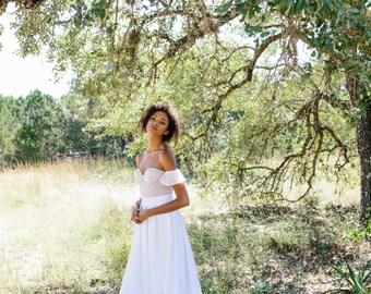 Doe Skirt // pleated wedding skirt