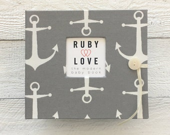 Gray Sailor Anchors | BABY BOOK