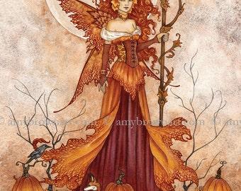 5x7 Pumpkin Queen fairy PRINT by Amy Brown
