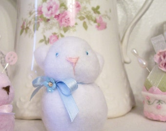 Sweet Little Fleece Bunny....Great for Spring...So Cuddly and Soft