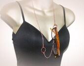 CUSTOM LISTING: Rose Gold Eyeglass Necklace - Lanyard. ID-Badge Holder or Eyeglass Chain.