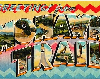 Greetings from the Mohawk Trail Vintage Postcard (Unused)