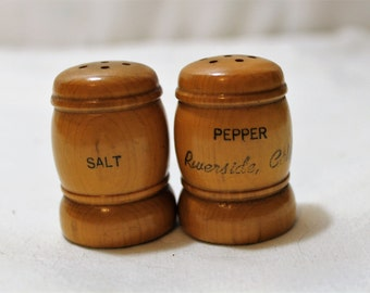 Vintage Souvenir Salt and Pepper Shakers, Riverside, California
