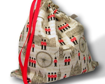 Britannia - Solo Sheepie, Multi-skein Project Bag for Knitting, Crochet, or Embroidery