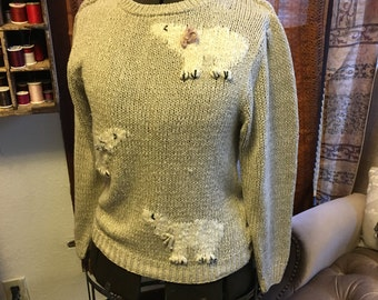 Jantzen Polar bear sweater Silk and Acrylic