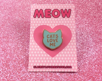 Cat Pin - Hard Enamel Pin - Cat Pins - Cat Brooch - Cat jewellery - Cat Gifts - Cat Lady - Cat Gifts - Crazy Cat Lady - Cat Lover