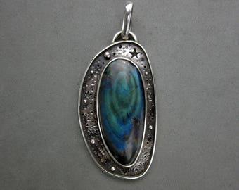 Celestial Spectrolite Labradorite Sterling Silver Pendant