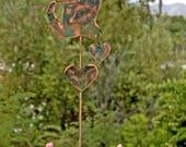 Cat Memorial Garden Stake / Metal Yard Art / Garden Art  / Garden Copper Art / Cat Sculpture / Grave Marker / Cat Angel / Patina