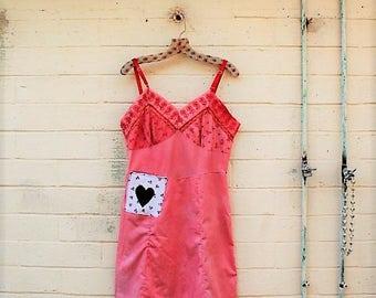 Medium Lace Babydoll Dress/Upcycled Clothing/Summer Dress/Lavender/Shabby Chic Dress/boho dress/Brown Ecru Cream lace upcycled fairy dress