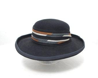 80s BYBLOS wool hat. wide brim fedora