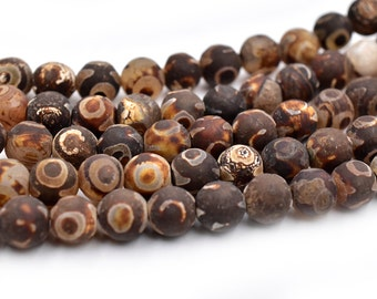 Brown Agate Beads, 8mm, 14 Inch Strand,   Gemstone Beads, Natural Beads -C646
