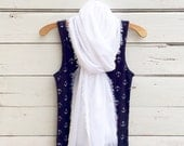 White Cotton Scarf, Cotton Gauze Scarf, Summer Scarf, Lightweight Scarf, Cotton Summer Scarf, Gift Idea, Jannysgirl