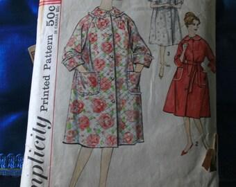 1950s Simplicity 3216 Slenderette size 14 robe pattern