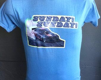 Sunday Sunday Saunday! 1980s vintage tee shirt - size medium