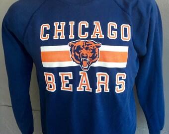 Chicago Bears 1980s NFL vintage sweatshirt - blue size medium