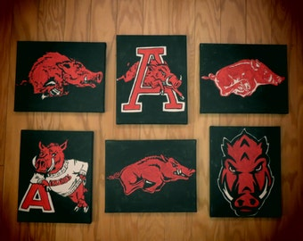 One Lil Piggy! Officially Licensed Arkansas Razorback Painting - FREE SHIPPING!