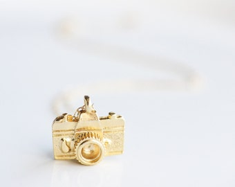 Photographer Gift - Gold Camera Necklace - Layering Necklace - Gift for Photographer - Photography Necklace - Gift Under 25 - Gift for Her