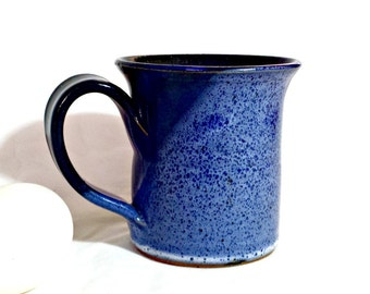 Blue Art Pottery Mug / Seagrove NC Blue Stoneware Mug / 1996 Old Hardtimes Mug
