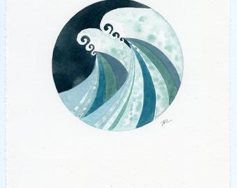 Stormy Seas, original watercolor