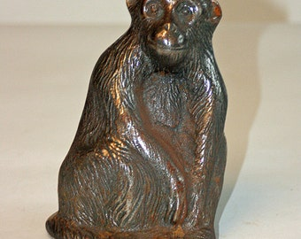 Heavy Cast Iron Smiling Monkey Doorstop from the 1940's Antique Primate