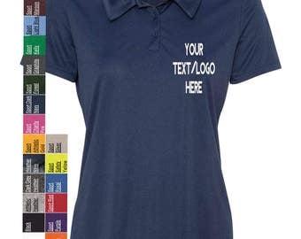 Custom polo shirt etsy for Custom printed performance shirts