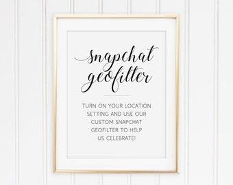 Wedding Snapchat sign, Printable Snapchat filter sign, Snapchat geofilter instructions, Wedding geofilter, Social media sign, Alejandra