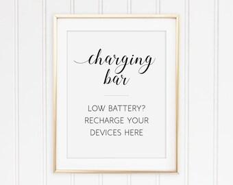 Charging Station Sign, Printable Charging Bar Sign, Power Bar Sign, Wedding Charging, Recharging Station, Cell Phone Charging, Alejandra