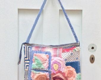 Patchwork Shabby Chic Crossbody Bag Handmade