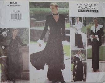 "Sz 12, 14, 16 Vogue Wardrobe Sewing Pattern 1290 Jacket, Top, Dress, Pants  bust 34""-38"" Easy"