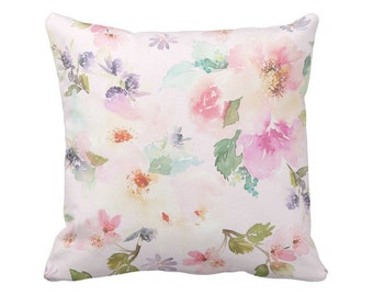 Pillow Cover Watercolor Floral in Blush