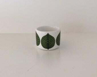 Vintage Stig Lindberg Gustavsberg Bersa bowl, egg cup, toothpick holder, Mid Century Modern, 60s, Scandinavian Swedish Nordic