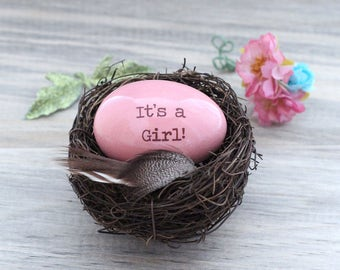 Gender reveal,  Pregnancy announcement, Personalized eggs