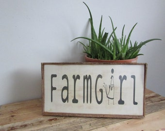 White Farmhouse Sign for your Rustic Chicken Farmhouse Chic Style