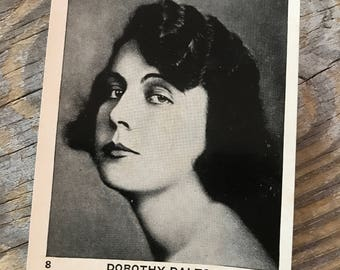 RARE 1920s Dorothy Dalton EGYPTIAN PRETTIEST Cigarettes Old Hollywood Souvenir Advertising Promotion Movie Trading Card