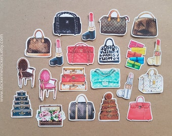 Bag stickers, Handbag stickers, Branded Bag stickers, Dress up stickers, Gucci, Marc Jacobs, Chanel stickers