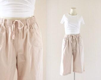 90's nude crop pants