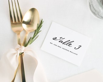 Modern Calligraphy Place Cards - Deposit
