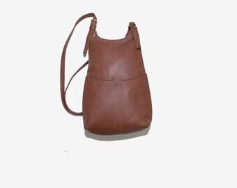 Vintage Leather Backpack / Brown Leather Backpack / Leather Knapsack