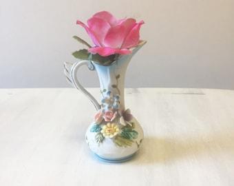 Miniature vase, vintage vase, vintage miniature, small vase, bisque vase, porcelain vase, tiny vase, vintage pottery, vintage flower vase