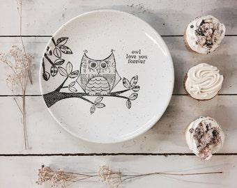 1005owl - Hand Painted Personalized Monogram Owl Baby Room Decor, Owl Decor for Nursery, Baby Owl Nursery Wall Art, Owl Nursery Decor