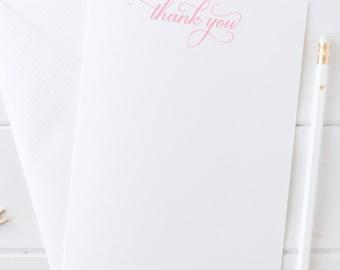Thank You Cards, Bridal Stationery, Stationery Set, Gift for Her, Note Card Set, Thank You Card Stationery Set