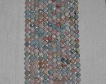 Kunzite, Kunzite Bead, Kunzite Faceted Bead, Grade A, Natural Stone, Semi Precious, Gemstone Bead, Faceted Gemstone, Strand, 8mm