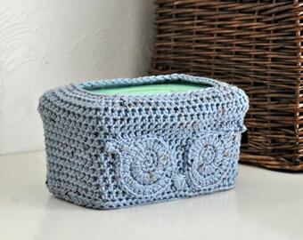 Blue Owl Baby Wipes Box Cover Woodland Nursery Decoration Home Decor Custom Colors